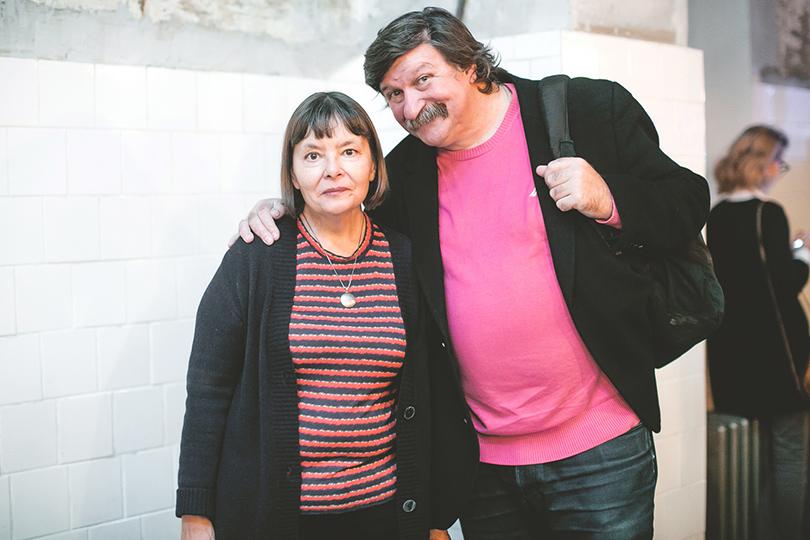Поэтесса Татьяна Щербина с мужем, фотографом Александром Тягны-Рядно