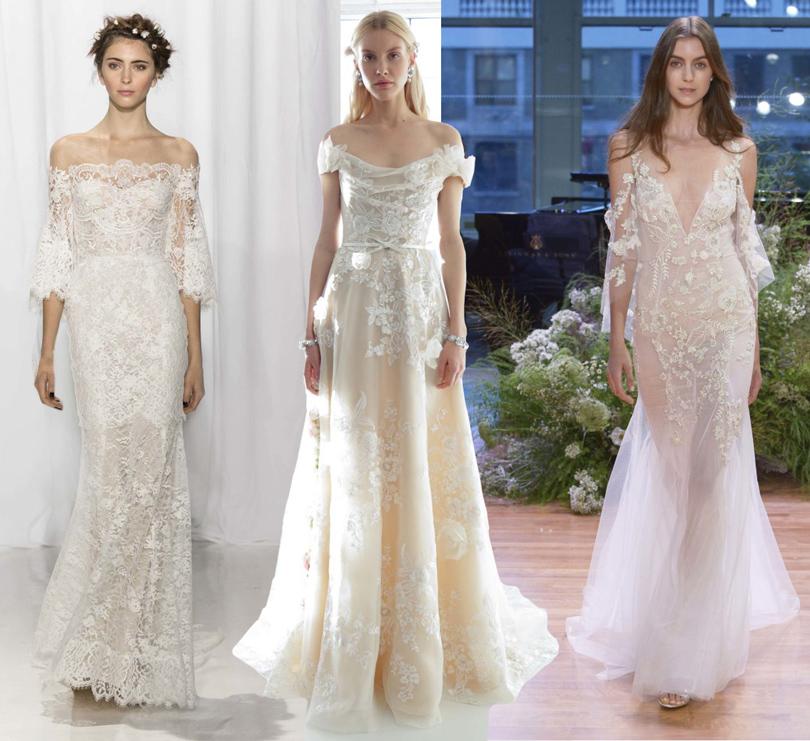 Wedding & More: 6 актуальных трендов с Недели свадебной моды в Нью-Йорке. Платья Reen Acra, Marchesa, Monique Lhuillier