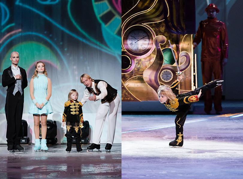 Posta Kids Club: состоялась премьера ледового шоу «Щелкунчик-2». 4-х летний Саша Плющенко вкостюме, созданном дизайнером Игорем Гуляевым