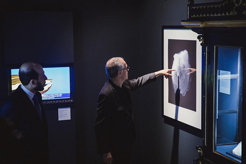 Открытие выставки Музеев Катара «Жемчуг: сокровища морей ирек» вГосударственном историческом музее. Юбер Бари