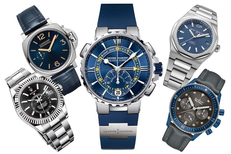 Rolex Sky-Dweller, Officine Panerai Luminor Due, Ulysse Nardin Marine Regatta, Girard-Perregaux Laureato, Blancpain Fifty Fathoms Bathyscaphe Flyback Chronograph Blue Ceramic