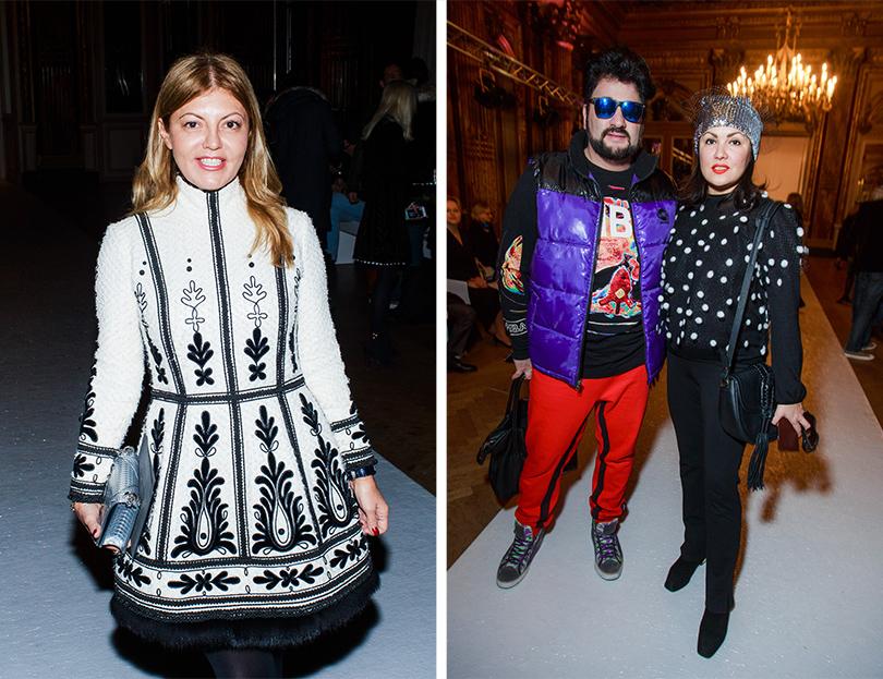 Vanity Fair с Марией Лобановой: Yanina Couture на Неделе высокой моды в Париже.  Виктория Монасир, Анна Нетребко с мужем Юсифом Эйвазовым
