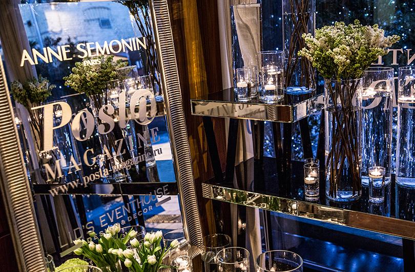 Эксклюзив: закрытый ужин Posta-Magazine и Anne Semonin в ресторане «Семифреддо». Зацветочное оформление ужина отвечали мастера LID'S EVENTHOUSE
