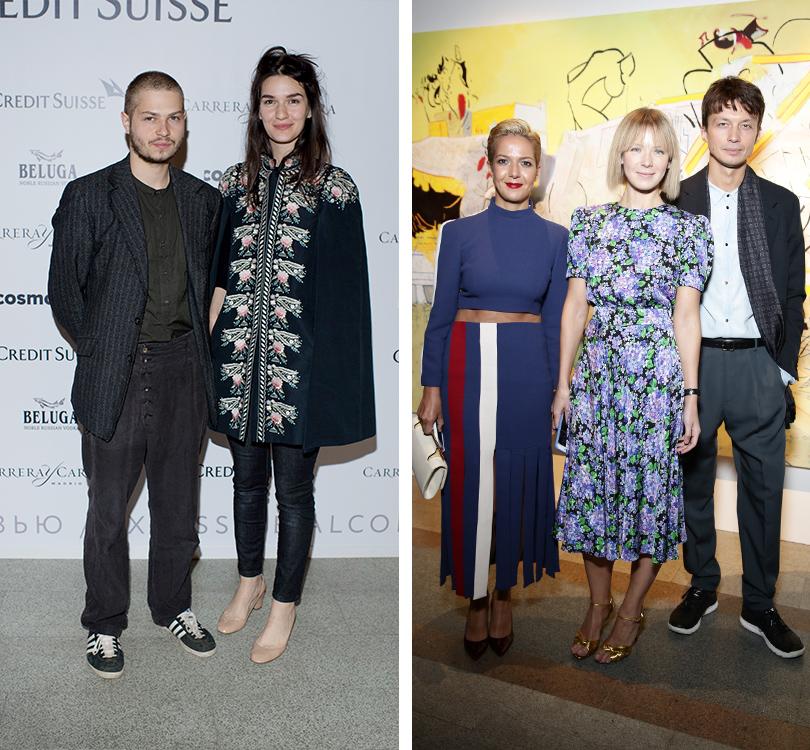 Светская хроника: открытие Cosmoscow. Современное искусство — это модно. Мари Коберидзе, Ксения Чилингарова, Вика Газинская, Герман Ларкин