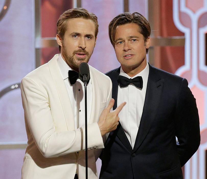 Лучшие мужские образы с церемонии «Золотой глобус-2016»: Райан Гослинг и Брэд Питт