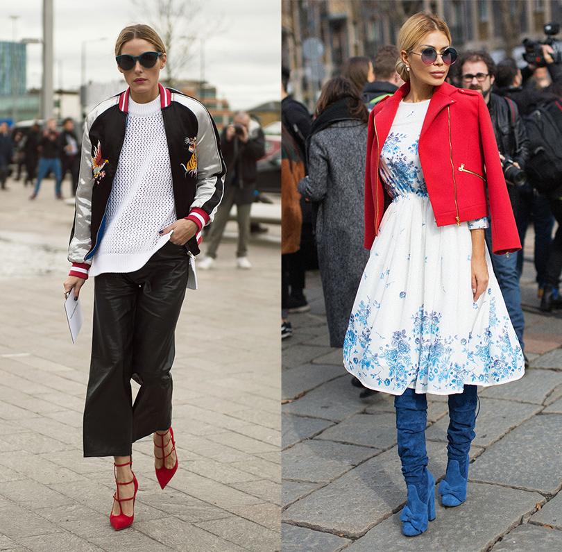 Лучшие образы street style на Неделе моды в Милане: Оливия Палермо, дизайнер Белла Потемкина