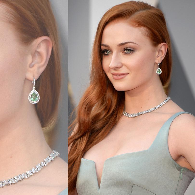 Ювелирные украшения звезд на церемонии «Оскар-2016»: Софи Тернер в Tiffany &Co.