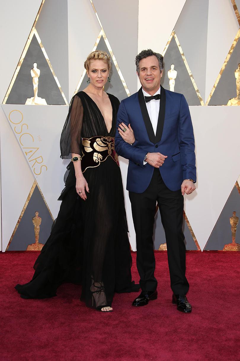 Звездные пары на церемонии вручения кинонаград «Оскар-2016»: Марк Руффало и Санрайз Койни