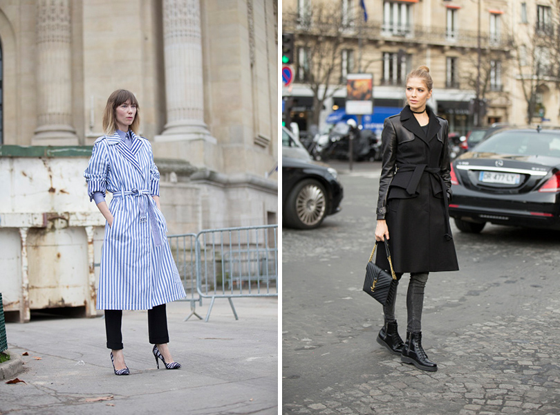 Street Style: уличная мода на Неделе Haute Couture в Париже. Анна Зюрова, Елена Перминова