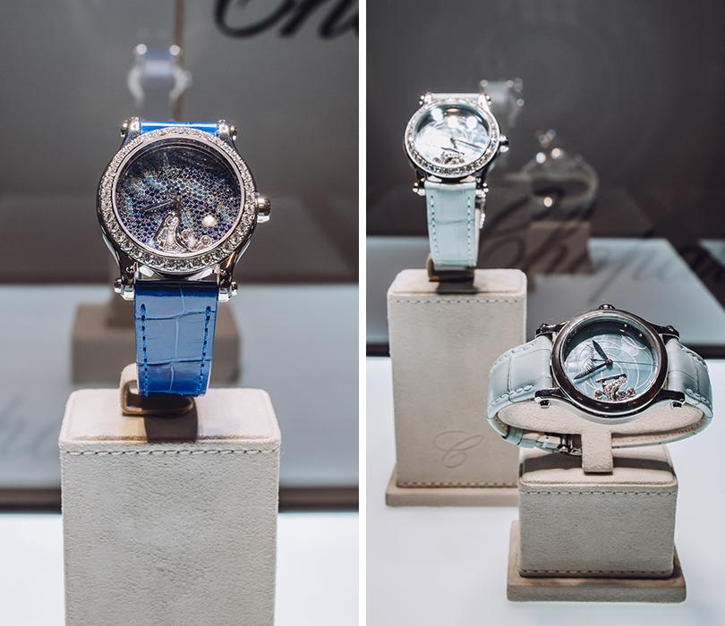 Татьяна Навка представила авторский дизайн часов Chopard Happy Sport.