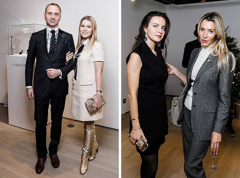 Закрытый показ ювелирных украшений Christie's: Гарри Юровчик (GL Financial Group) с супругой. Мариам Невретдинова и Марина Муравлева