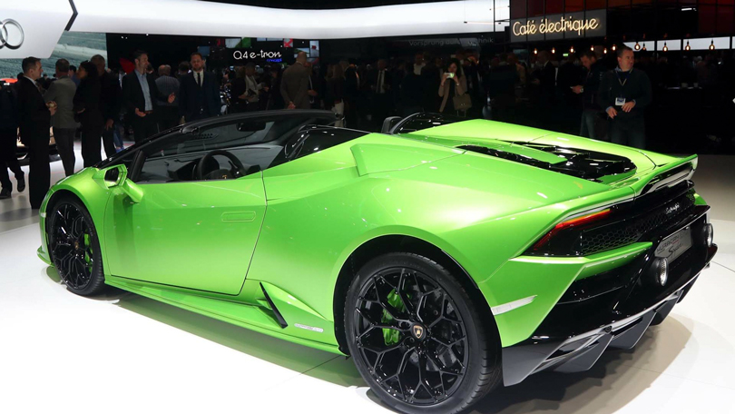 Cars with Jan Coomans. Geneva International Motor Show 2019. Lamborghini Huracan Evo Spyder