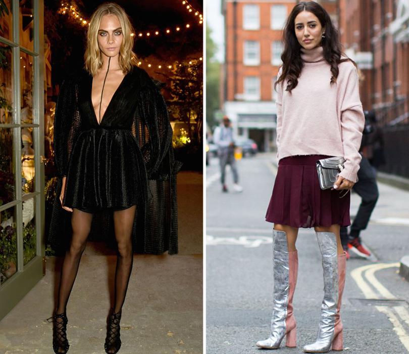 Street Style: лучшие образы на Неделе моды в Лондоне. Кара Делевинь перед показом Burberry. Модный блогер Тамара Калиник