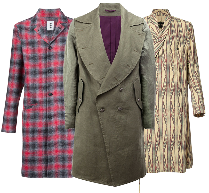 Men inStyle: как носить самые актуальные пальто весеннего сезона. Пальто 321, Ann Demeulemeester, Uma Wan