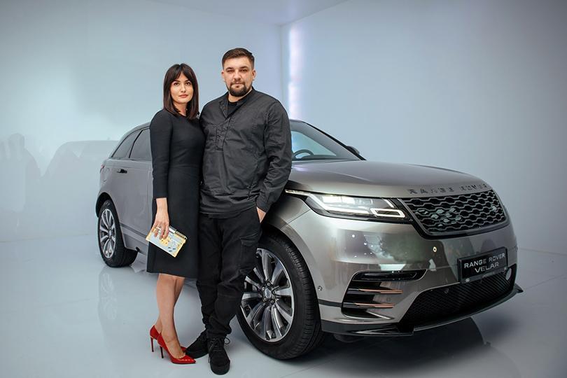 Российская премьера Range Rover Velar вМузее Москвы: Елена Вакуленко иВасилий Вакуленко (Баста)