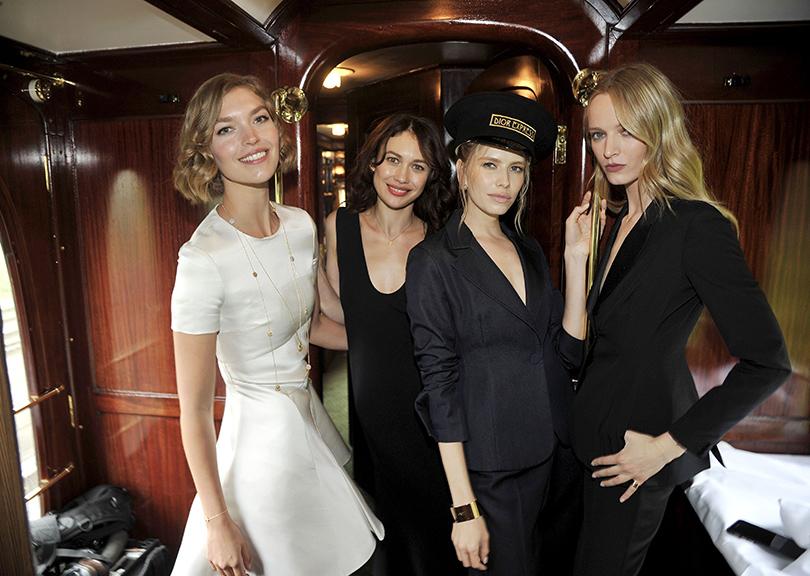 Style Notes: показ коллекции Dior Cruise 2017. Ольга Куриленко и Елена Перминова