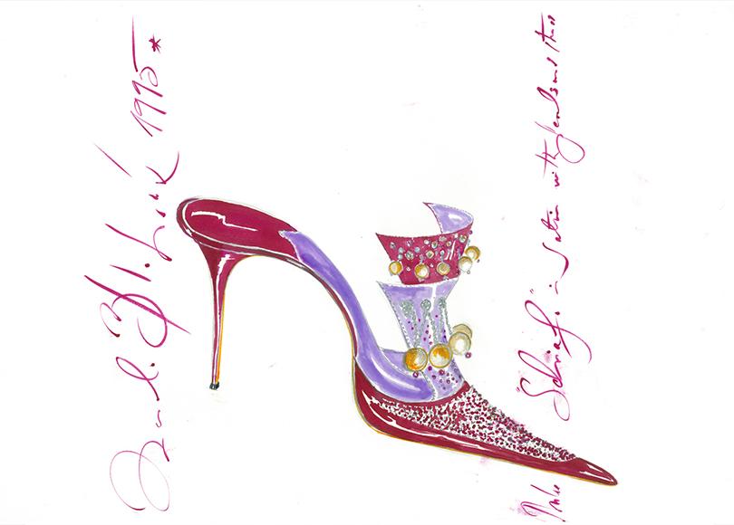 «Маноло Бланик. Обувь как искусство». Маноло Бланик. Рисунок Schiafo, 1995г.
