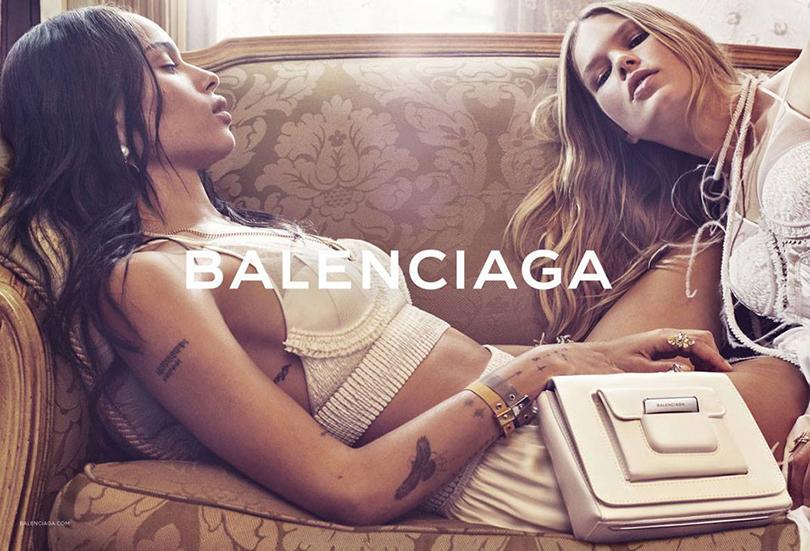 Зоуи Кравитц врекламе Balenciaga