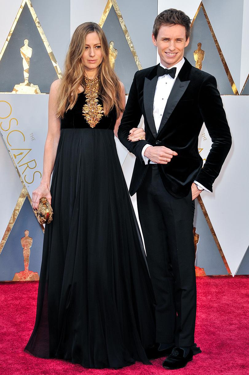 Звездные пары на церемонии вручения кинонаград «Оскар-2016»: Эдди Редмэйн с женой Ханной