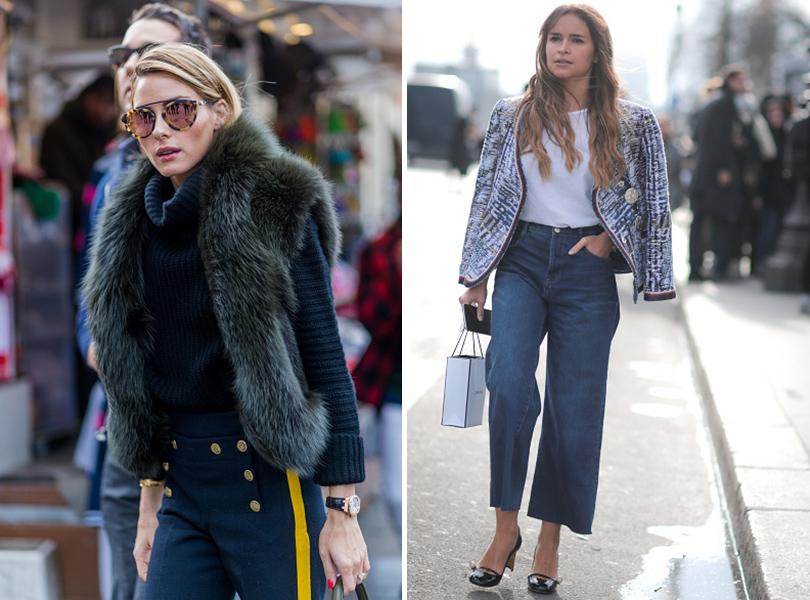 Street Style: уличная мода на Неделе Haute Couture в Париже. Оливия Палермо, Мирослава Дума
