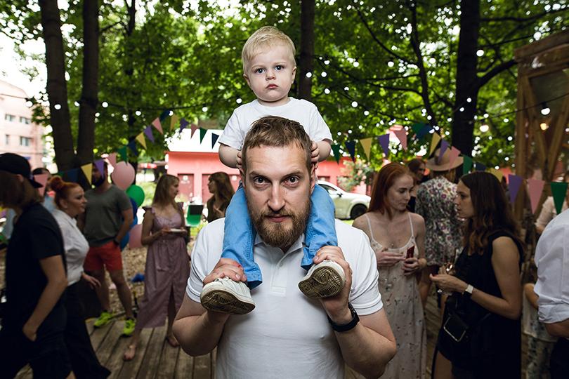 Александр Орлов с сыном