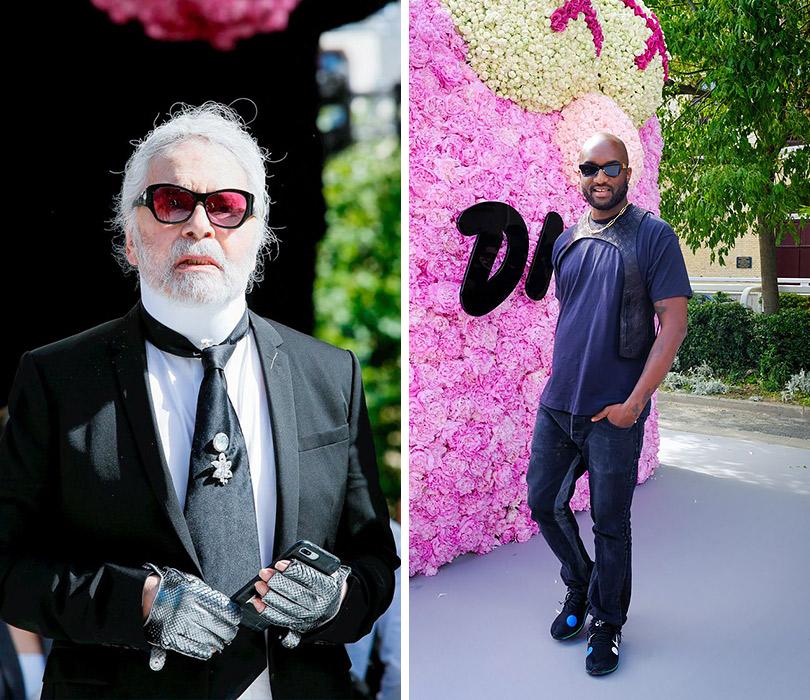 Первый показ Кима Джонса для Dior Homme. Карл Лагерфельд. Вирджил Абло