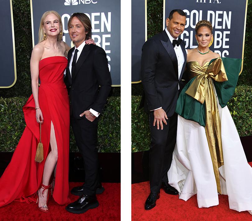 Николь Кидман в Atelier Versace и Кит Урбан. Дженнифер Лопес в Valentino Couture и Алекс Родригес