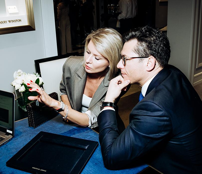 Открытие ювелирного салона Harry Winston вМоскве: Виктория иАнтон Борисевич