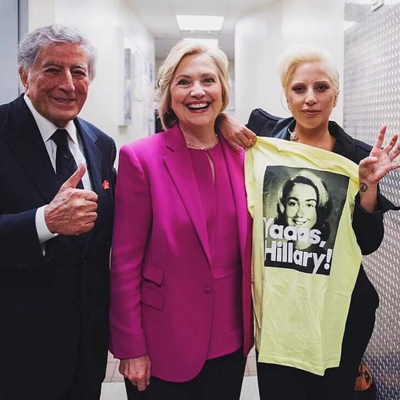Хиллари Клинтон и Леди Гага