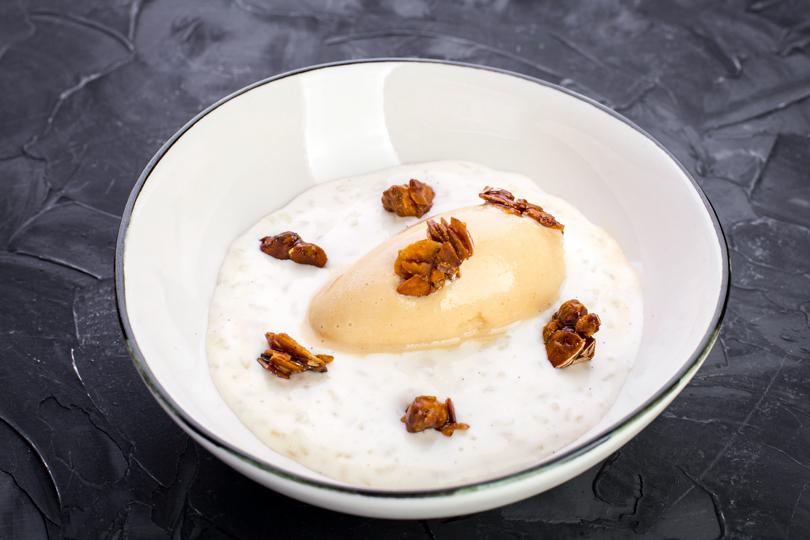 Touché Ри-о-ле, рисовый пудинг смороженым изсоленой карамели