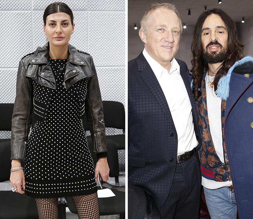Звездные гости Недели моды в Париже, 2016: Джованна Батталья, Франсуа Анри-Пино и Алессандро Микеле