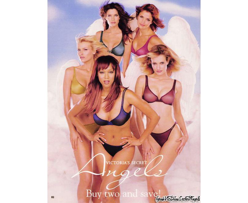 Style Notes: секреты Victoria's Secret. Как превратить бренд в культурный феномен? 1997год. Рекламный плакат Victoria's Secret, первое упоминание «Ангелов».