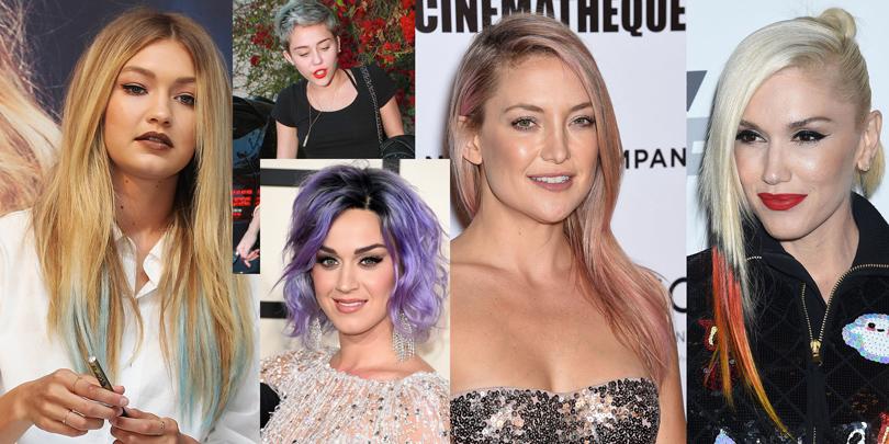 Мы добавили немного цвета: Джиджи Хадид, Майли Сайрус, Кэти Перри, Кейт Хадсон, Гвен Стефани