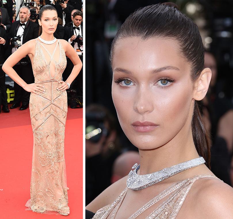 Cannes 2016: самые яркие звездные образы на церемонии открытия кинофестиваля. Белла Хадид вCavalli Couture иукрашениях De Grisogono