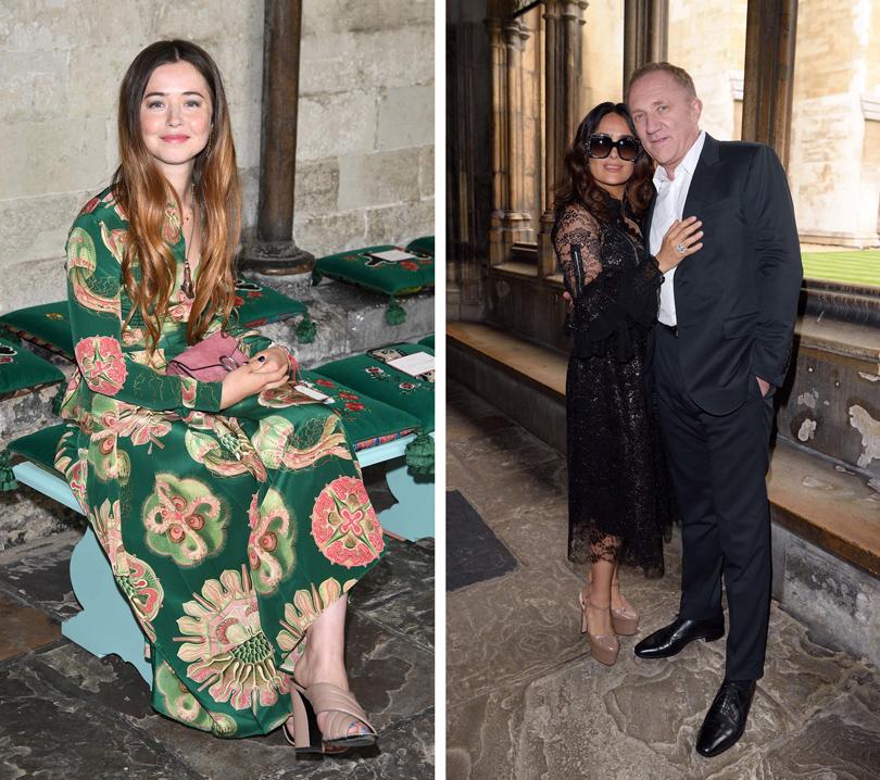 Style Notes: показ Gucci Cruise 2017 в Вестминстерском аббатстве. Фло Морриси, Сальма Хайек и Франсуа-Анри Пино