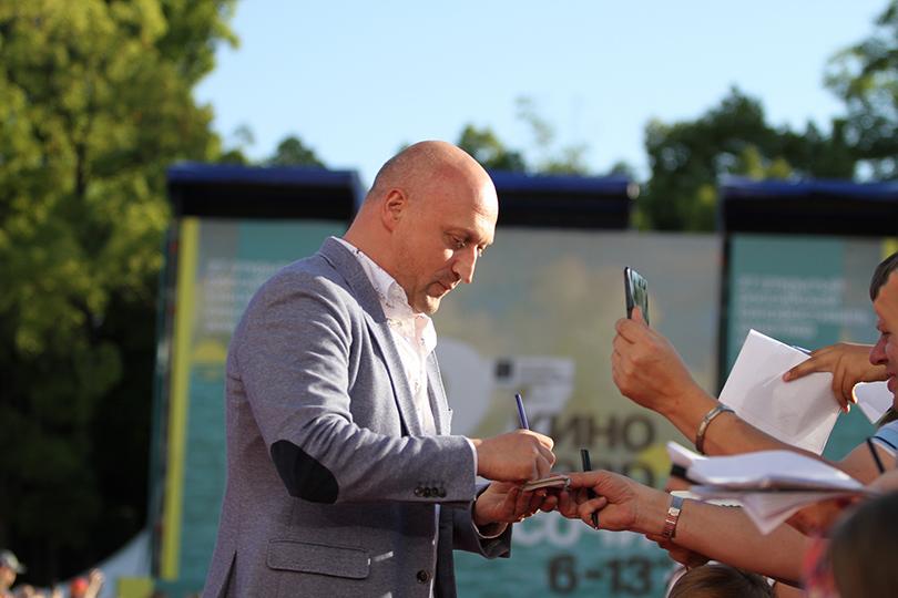 Церемония закрытия фестиваля «Кинотавр» вСочи. Гоша Куценко