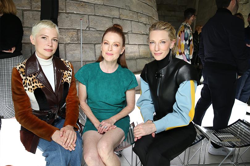 «Исторический футуризм»: показ Louis Vuitton весна-лето 2018. Мишель Уильямс, Джулианна Мур и Кейт Бланшетт