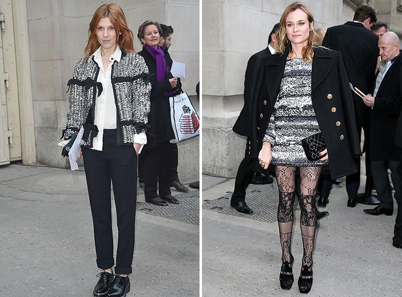 Показ Chanel на Неделе высокой моды в Париже: Клеманс Поэзи, Диана Крюгер