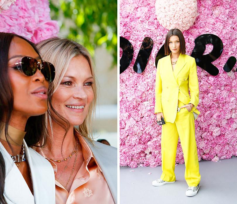 Первый показ Кима Джонса для Dior Homme. Наоми Кэмпбелл, Кейт Мосс. Белла Хадид