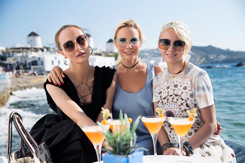 #postatravelnotes Лето. Миконос. Dior Riviera. Маргарита Лиева, Елена Летучая и Яна Рудковская