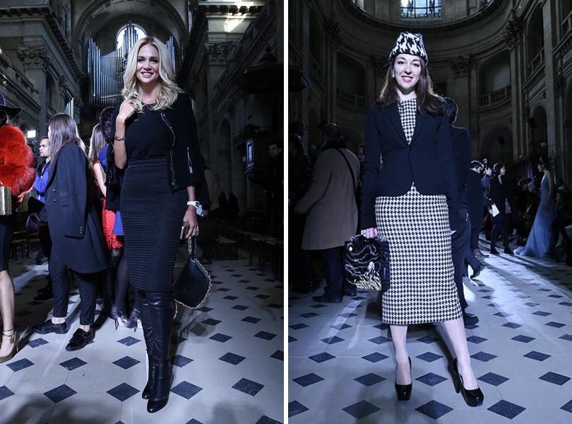 Vanity Fair с Марией Лобановой: показ Tony Ward в Париже. Виктория Лопырева и Лобанова