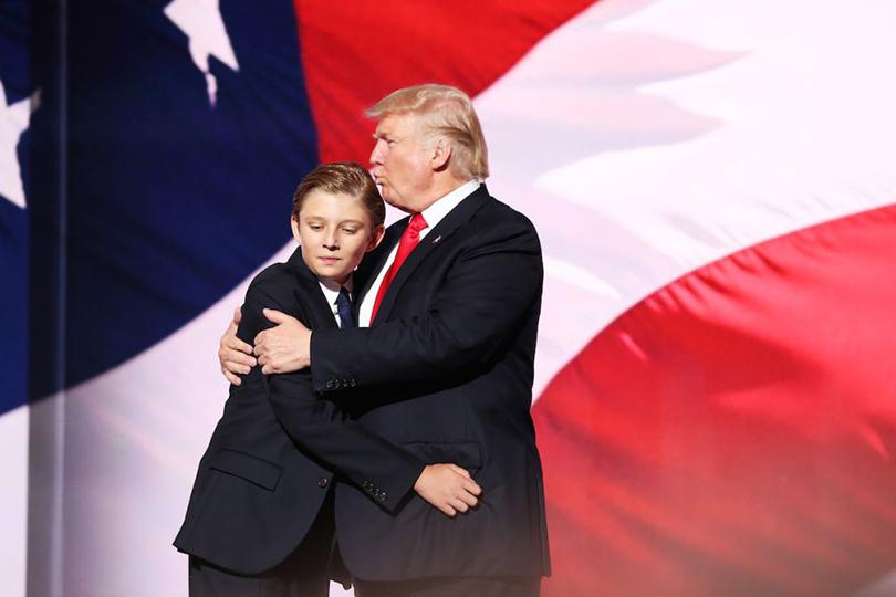 Варрон Трамп, самый младший издетей миллиардера. Его ему родила Мелания