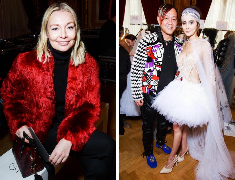 Vanity Fair с Марией Лобановой: Yanina Couture на Неделе высокой моды в Париже. Виктория Давыдова и другие гости показа