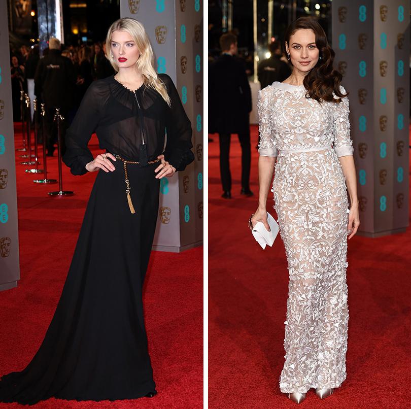 Церемония вручения премий BAFTA 2016 в Лондоне: Лили Дональдсон. Ольга Куриленко