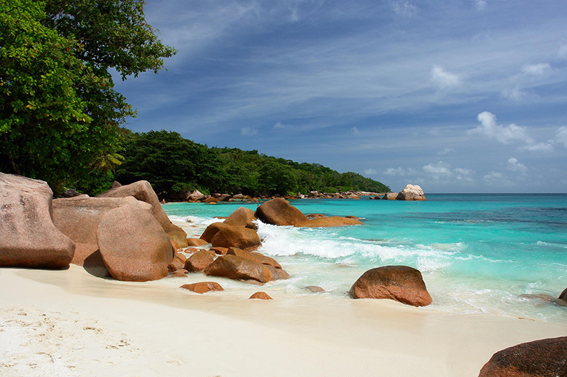 Пляж Anse Lazio, расположенного на Сейшельских островах