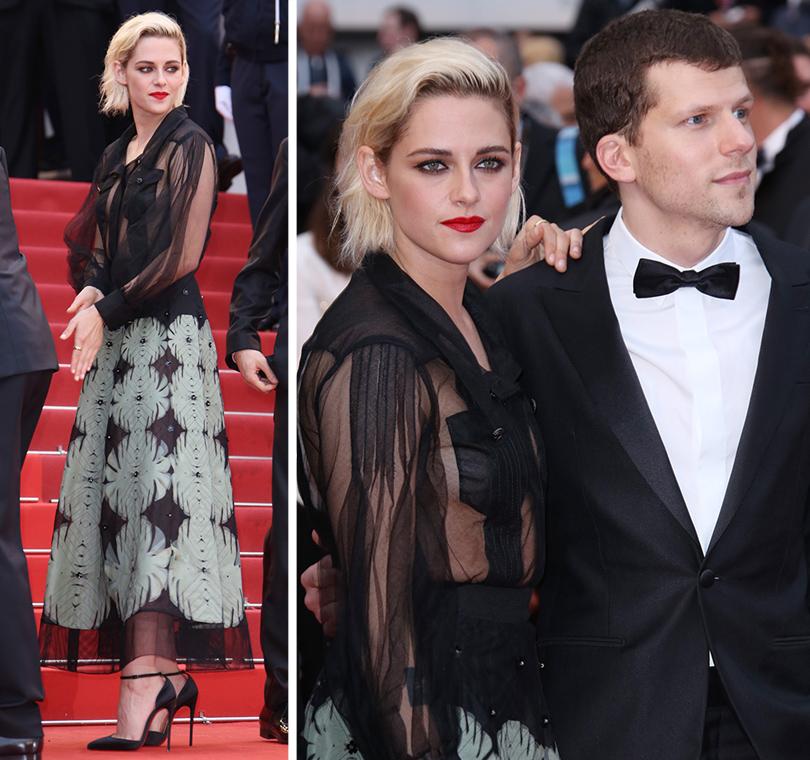 Cannes 2016: самые яркие звездные образы на церемонии открытия кинофестиваля. Кристен Стюарт вChanel иДжесси Айзенберг