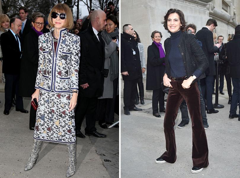 Показ Chanel на Неделе высокой моды в Париже: Анна Винтур, Инес де ля Фрессанж