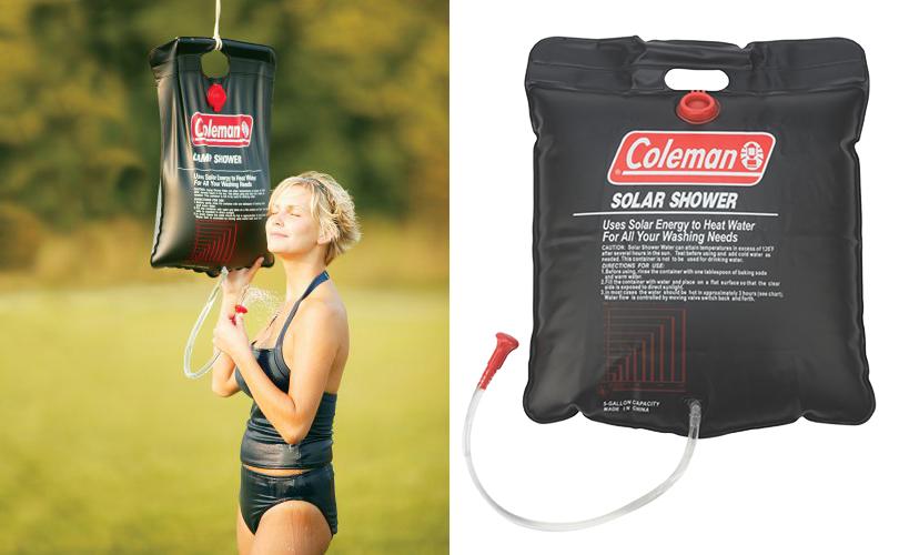 Идея подарка: надувные санки, эспрессо-самовар идругие практичные находки для путешественников. Походный душ Coleman Solar Shower