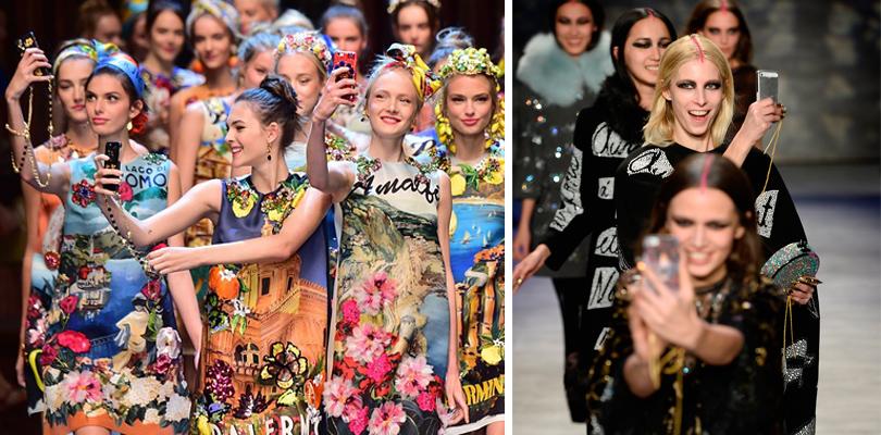 Социальные сети окончательно нас поработили: Показ Dolce &Gabbana