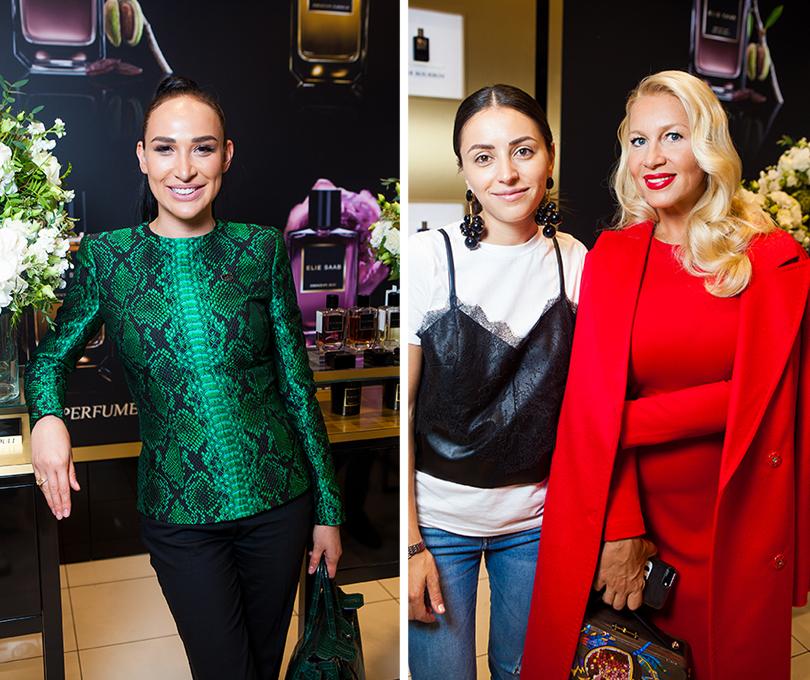 Презентация нового аромата Elie Saab Girl of Now в ЦУМе. Анастасия Задорина. Яна Валенсия и Екатерина Одинцова
